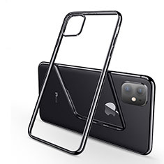 Ultra-thin Transparent TPU Soft Case Cover H03 for Apple iPhone 11 Black