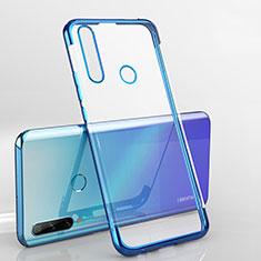 Ultra-thin Transparent TPU Soft Case Cover H03 for Huawei Enjoy 10 Plus Blue