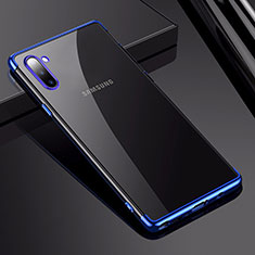 Ultra-thin Transparent TPU Soft Case Cover H03 for Samsung Galaxy Note 10 5G Blue