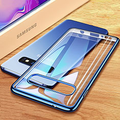 Ultra-thin Transparent TPU Soft Case Cover H03 for Samsung Galaxy S10 Plus Blue