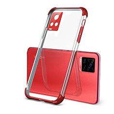 Ultra-thin Transparent TPU Soft Case Cover H03 for Vivo V20 Pro 5G Red