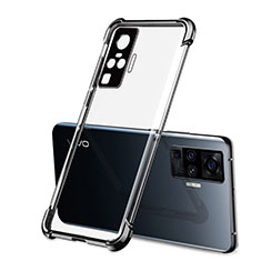 Ultra-thin Transparent TPU Soft Case Cover H03 for Vivo X51 5G Black