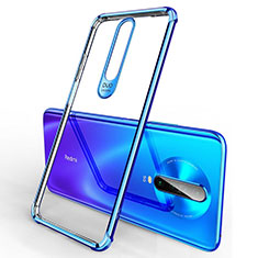 Ultra-thin Transparent TPU Soft Case Cover H03 for Xiaomi Redmi K30 5G Blue