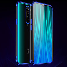 Ultra-thin Transparent TPU Soft Case Cover H03 for Xiaomi Redmi Note 8 Pro Blue