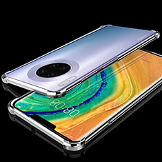 Ultra-thin Transparent TPU Soft Case Cover H04 for Huawei Mate 30 Pro 5G Silver