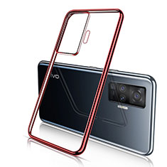 Ultra-thin Transparent TPU Soft Case Cover H04 for Vivo X51 5G Red