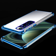 Ultra-thin Transparent TPU Soft Case Cover H04 for Xiaomi Mi 10 Ultra Blue