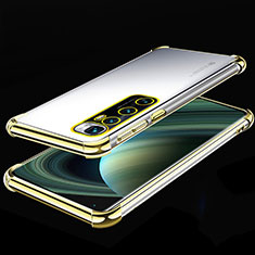 Ultra-thin Transparent TPU Soft Case Cover H04 for Xiaomi Mi 10 Ultra Gold