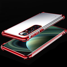 Ultra-thin Transparent TPU Soft Case Cover H04 for Xiaomi Mi 10 Ultra Red