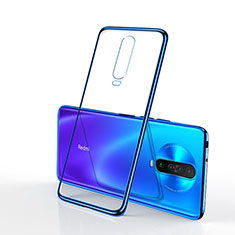 Ultra-thin Transparent TPU Soft Case Cover H04 for Xiaomi Redmi K30 5G Blue