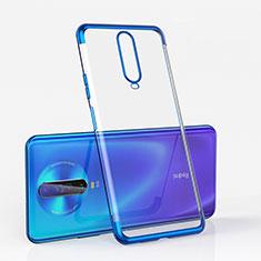 Ultra-thin Transparent TPU Soft Case Cover H05 for Xiaomi Poco X2 Blue