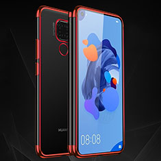 Ultra-thin Transparent TPU Soft Case Cover H06 for Huawei Mate 30 Lite Red