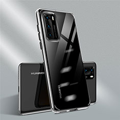 Ultra-thin Transparent TPU Soft Case Cover N01 for Huawei P40 Black