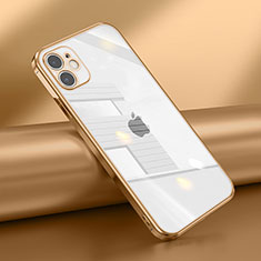 Ultra-thin Transparent TPU Soft Case Cover N02 for Apple iPhone 12 Mini Gold