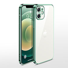 Ultra-thin Transparent TPU Soft Case Cover N04 for Apple iPhone 12 Mini Green