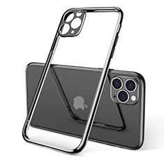 Ultra-thin Transparent TPU Soft Case Cover S01 for Apple iPhone 11 Pro Max Black
