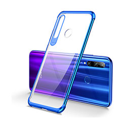 Ultra-thin Transparent TPU Soft Case Cover S01 for Huawei Honor 20 Lite Blue