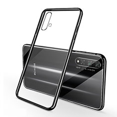 Ultra-thin Transparent TPU Soft Case Cover S01 for Huawei Honor 20S Black