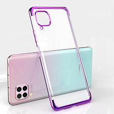 Ultra-thin Transparent TPU Soft Case Cover S01 for Huawei Nova 6 SE Purple
