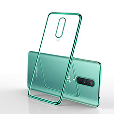 Ultra-thin Transparent TPU Soft Case Cover S01 for OnePlus 8 Green