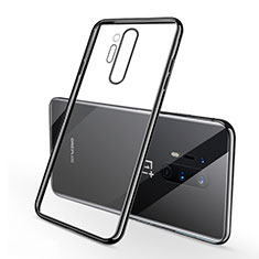 Ultra-thin Transparent TPU Soft Case Cover S01 for OnePlus 8 Pro Black