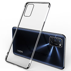 Ultra-thin Transparent TPU Soft Case Cover S01 for Oppo A52 Black