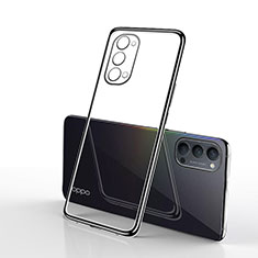 Ultra-thin Transparent TPU Soft Case Cover S01 for Oppo Reno4 5G Black