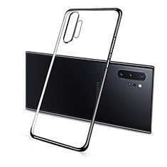 Ultra-thin Transparent TPU Soft Case Cover S01 for Samsung Galaxy Note 10 Plus 5G Black