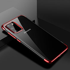 Ultra-thin Transparent TPU Soft Case Cover S01 for Samsung Galaxy S20 5G Red
