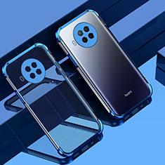 Ultra-thin Transparent TPU Soft Case Cover S01 for Xiaomi Mi 10T Lite 5G Blue
