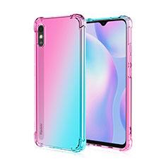 Ultra-thin Transparent TPU Soft Case Cover S01 for Xiaomi Redmi 9i Pink