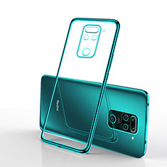 Ultra-thin Transparent TPU Soft Case Cover S01 for Xiaomi Redmi Note 9 Green