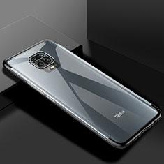 Ultra-thin Transparent TPU Soft Case Cover S01 for Xiaomi Redmi Note 9 Pro Black