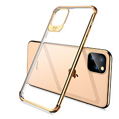 Ultra-thin Transparent TPU Soft Case Cover S02 for Apple iPhone 11 Pro Max Gold