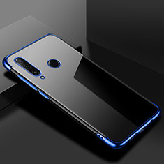 Ultra-thin Transparent TPU Soft Case Cover S02 for Huawei Honor 20 Lite Blue