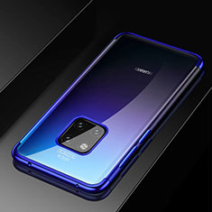Ultra-thin Transparent TPU Soft Case Cover S02 for Huawei Mate 20 Pro Blue