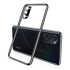 Ultra-thin Transparent TPU Soft Case Cover S02 for Oppo Reno4 5G Black