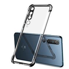 Ultra-thin Transparent TPU Soft Case Cover S02 for Xiaomi Mi 10 Pro Black