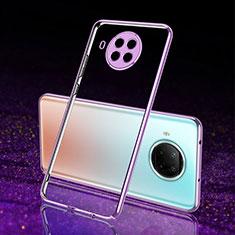 Ultra-thin Transparent TPU Soft Case Cover S02 for Xiaomi Mi 10T Lite 5G Purple