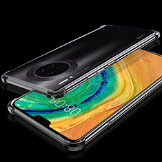 Ultra-thin Transparent TPU Soft Case Cover S03 for Huawei Mate 30 Black