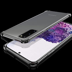 Ultra-thin Transparent TPU Soft Case Cover S03 for Samsung Galaxy S20 Black