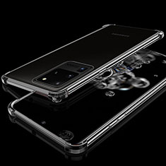 Ultra-thin Transparent TPU Soft Case Cover S03 for Samsung Galaxy S20 Ultra 5G Black
