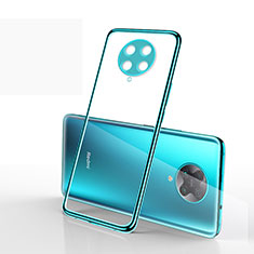 Ultra-thin Transparent TPU Soft Case Cover S03 for Xiaomi Poco F2 Pro Cyan