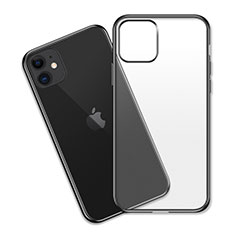 Ultra-thin Transparent TPU Soft Case Cover S04 for Apple iPhone 11 Black