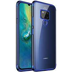 Ultra-thin Transparent TPU Soft Case Cover S04 for Huawei Mate 20 Blue