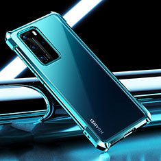 Ultra-thin Transparent TPU Soft Case Cover S04 for Huawei P40 Pro Cyan