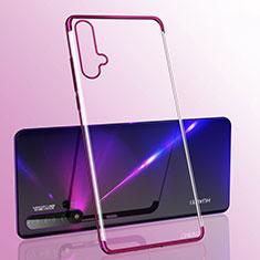 Ultra-thin Transparent TPU Soft Case Cover S05 for Huawei Nova 5 Purple