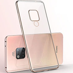Ultra-thin Transparent TPU Soft Case Cover S06 for Huawei Mate 20 X 5G Gold