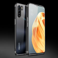 Ultra-thin Transparent TPU Soft Case Cover Z01 for Oppo Find X2 Lite Black