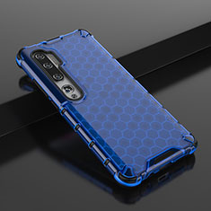 Ultra-thin Transparent TPU Soft Case Cover Z01 for Xiaomi Mi Note 10 Blue